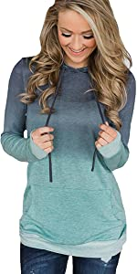 womens fashion pullover comfy long sleeve hoodies loose casual tops sweatshirts outwear