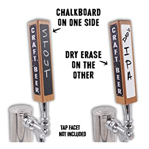 Beer Tap Kit chalkboard and dry erase