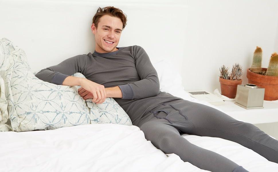 men thermal underwear waffle