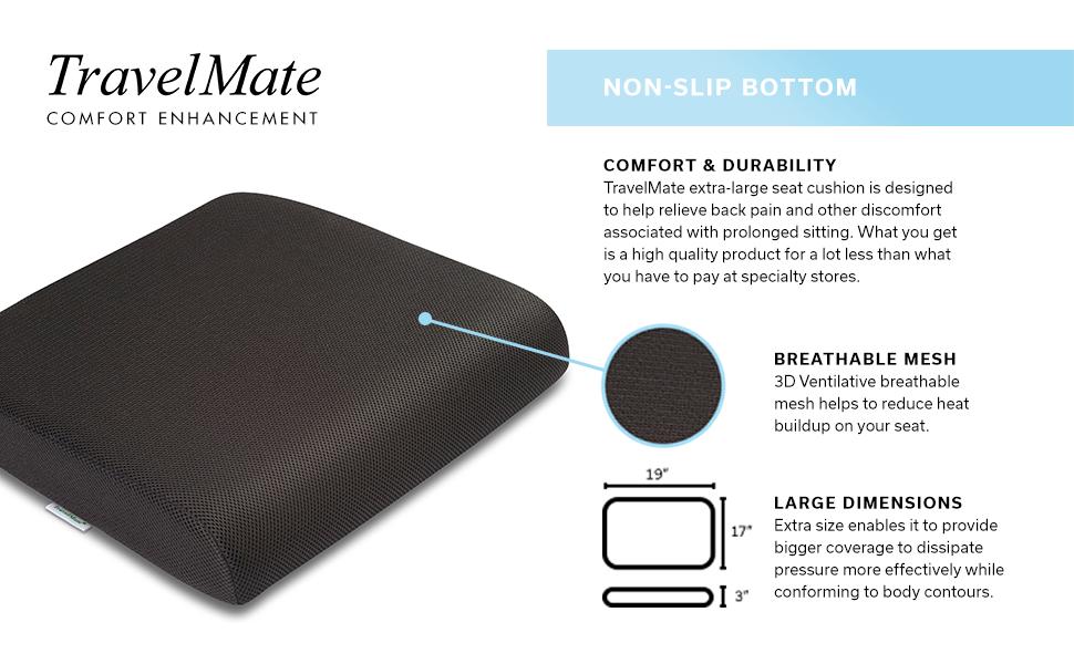 Amazon.com: TravelMate Extra-Large Cojín de asiento de ...