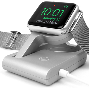 apple watch charger activates nightstand mode travel portable charging cable for iwatch