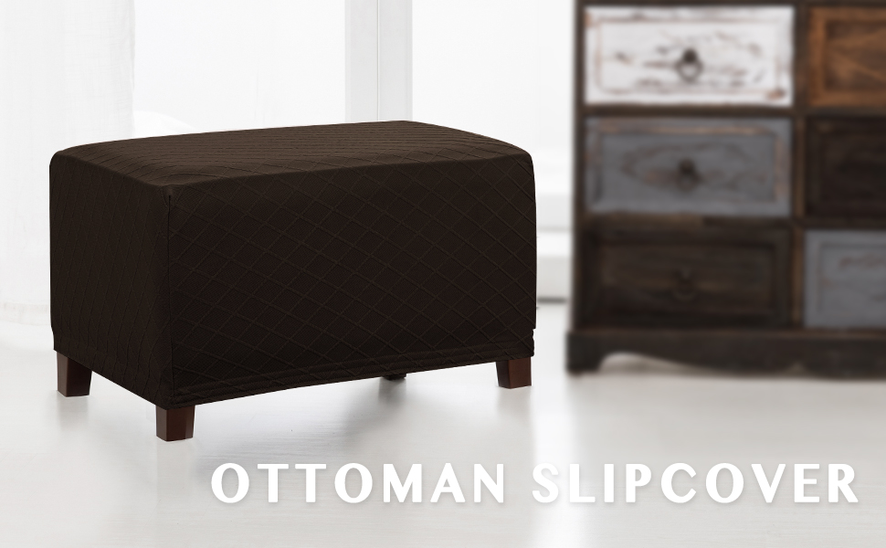 ottoman slipcover