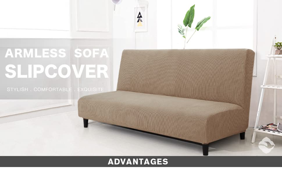 Amazon.com: Chun Yi - Funda elástica sin brazos para sofá o ...