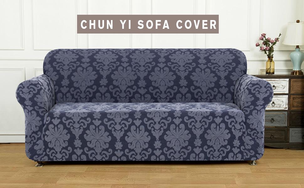 Amazon.com: Chun Yi - Funda para sofá (jacquard, elástica ...