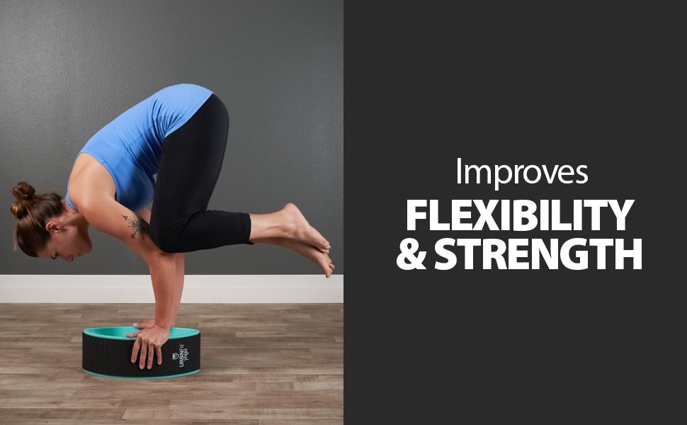 Amazon.com: URBNFit rueda de yoga diseñada para Dharma Yoga ...