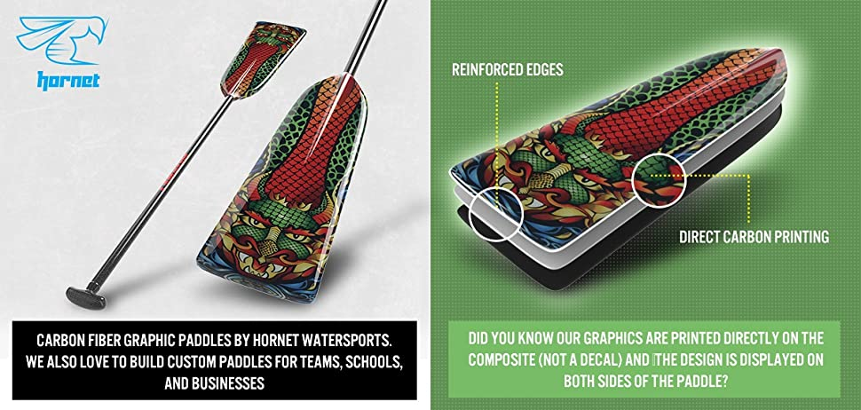 Amazon.com : Hornet Watersports Dragon Boat Paddle ...