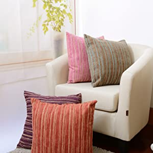 decorative pillow covers modern striped