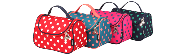 Cute Travel Makeup Bag Polka Dots