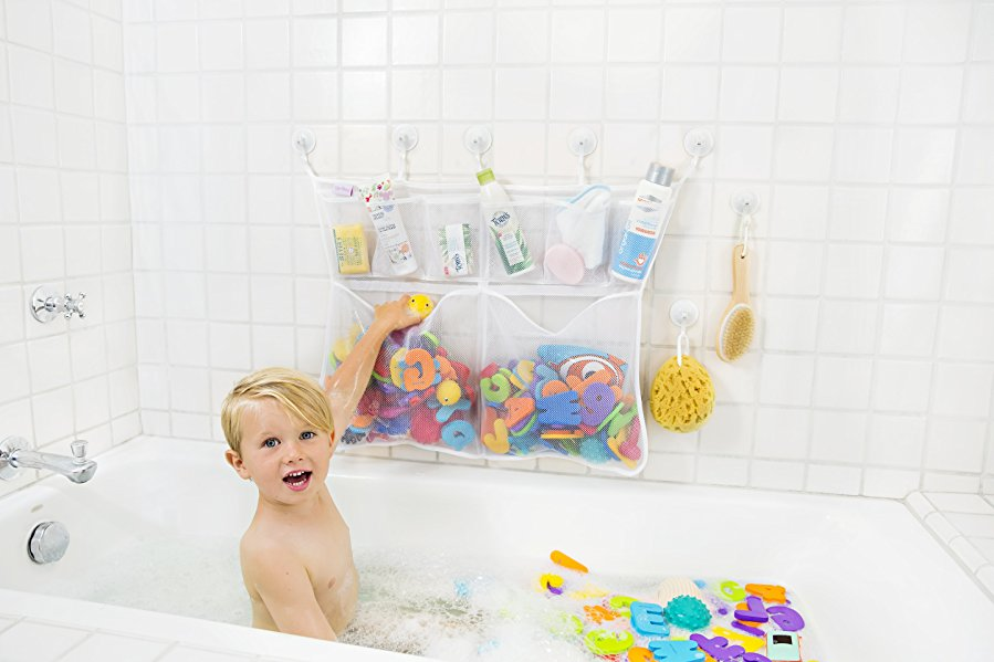 Amazon.com : The Really Big Tub Cubby Bath Toy Organizer & Caddy ...