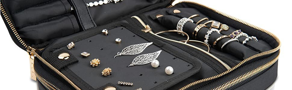 habe travel jewelry case bag organizer women