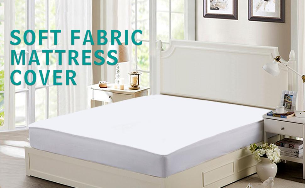Amazon.com: ISSUNTEX - Protector de colchón de tela suave ...