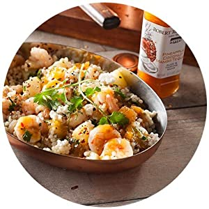 pineapple coconut tequila shrimo couscous skillet featured dinner recipe