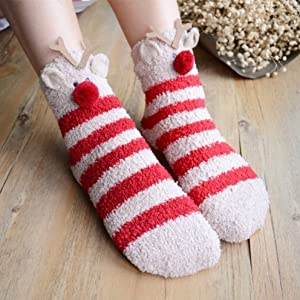 xmas deer socks