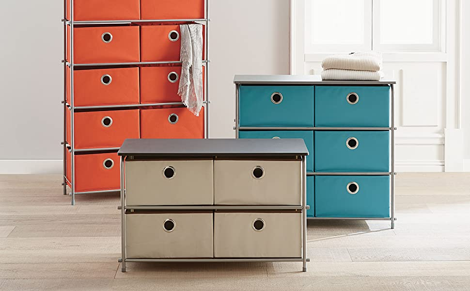 Amazon.com: brylanehome Eve 4-Drawer suave cesta de la ...