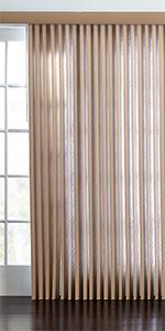 BrylaneHome brylane home blinds shade panel window curtain drape
