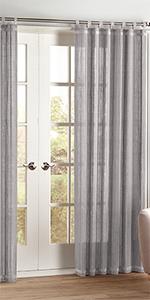 BrylaneHome brylane home bamboo rod pocket tab top panel window curtain drape