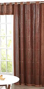 BrylaneHome brylane home bamboo rod pocket panel window curtain drape