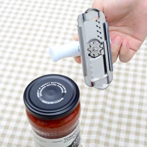 Kichwit Jar Opener Stainless Steel, Bottle Opener Keychain Included