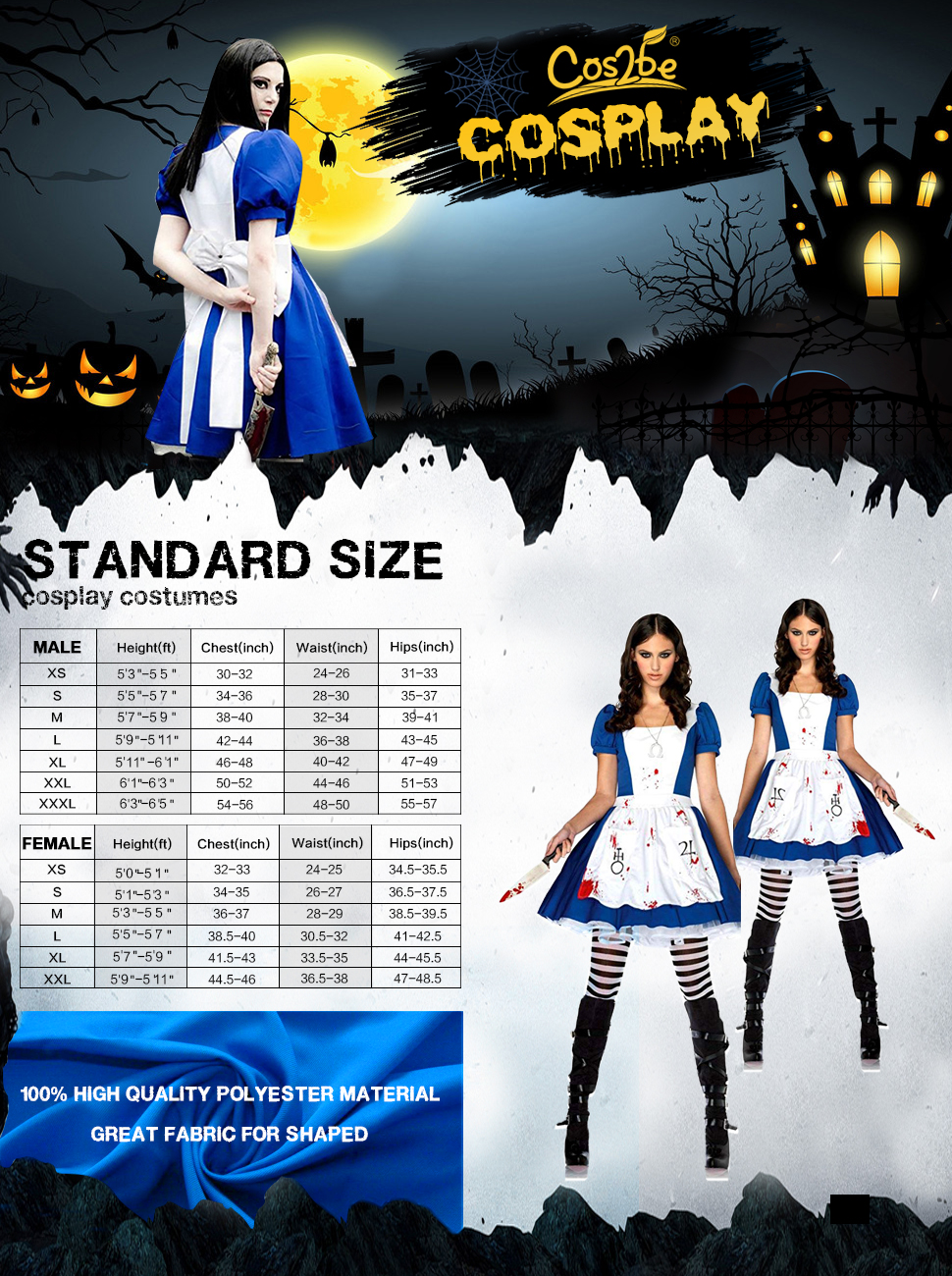 1478fa553b276 Cos2be Costume For Alice-madness Returns Alice Cosplay Update Edition(XS)