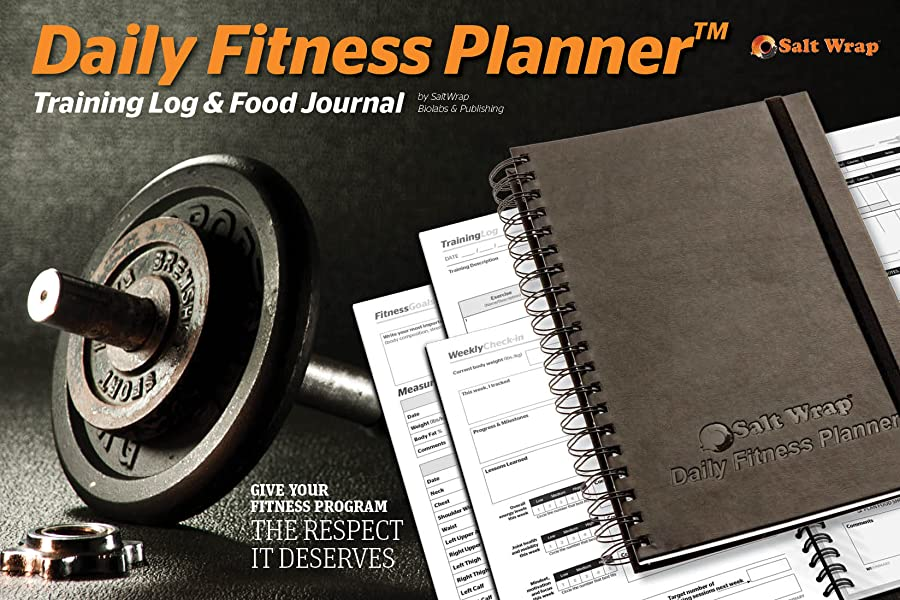 SaltWrap The Daily Fitness Planner - Gym Workout Log and Food Journal - with Daily and Weekly Pages, Goal Tracking Templates, Spiral-Bound, 7 x 10 inches 13