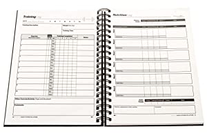 SaltWrap The Daily Fitness Planner - Gym Workout Log and Food Journal - with Daily and Weekly Pages, Goal Tracking Templates, Spiral-Bound, 7 x 10 inches 19