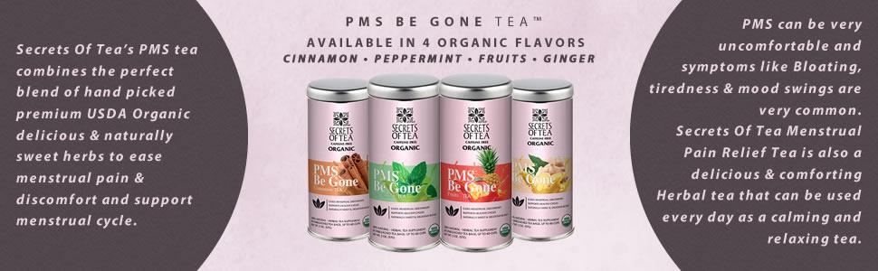 Secrets Of Tea PMS Menstrual be gone organic natural