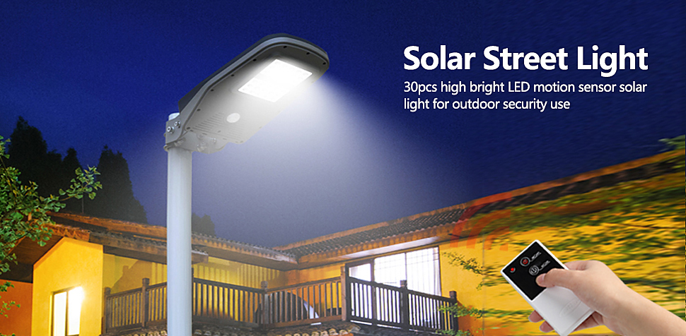 1000 Lumens Solar Street Light Outdoor IP65 with Remote All in One Area Lighting Dusk to Dawn PIR Motion Sensor Lighting & GBGS Solar Street Light Outdoor 1 000 Lumens Waterproof IP65 with ...