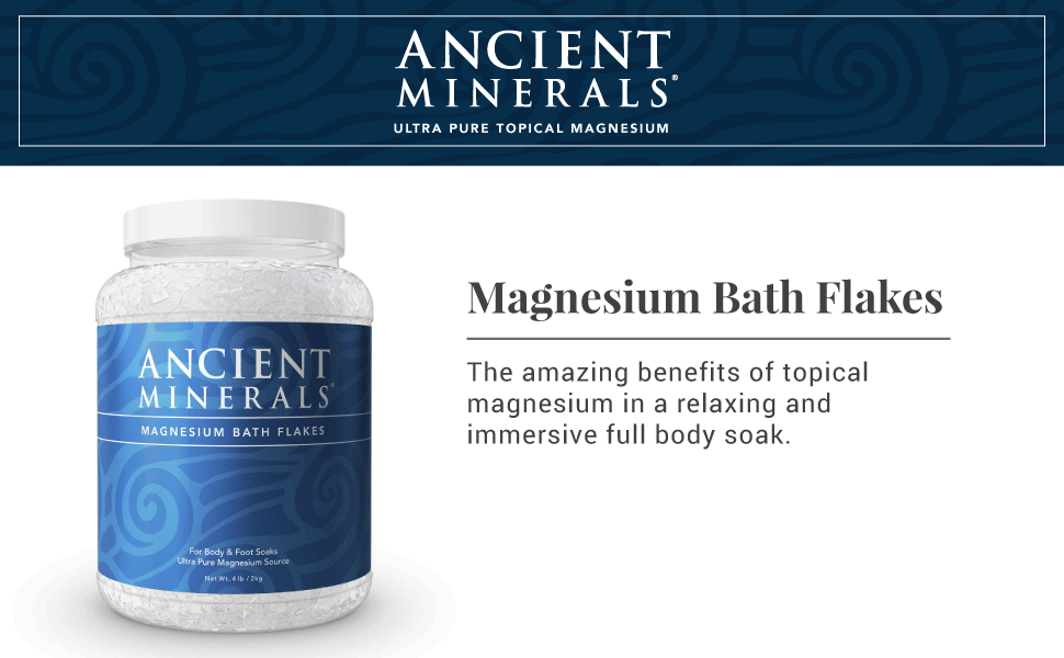 ancient minerals, magnesium, bath flakes