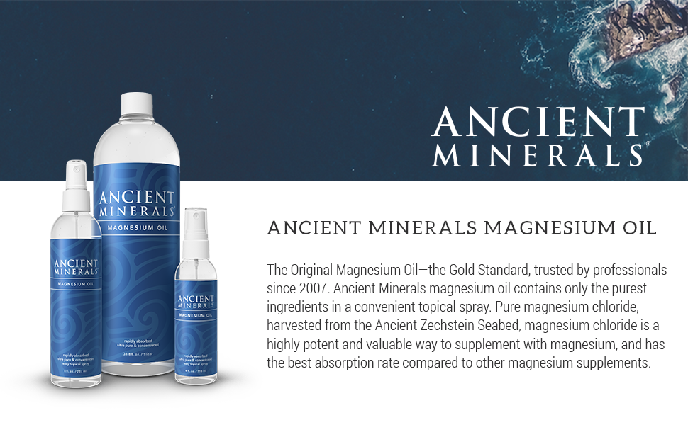 Amazon Com Ancient Minerals Magnesium Oil Spray Bottle Of