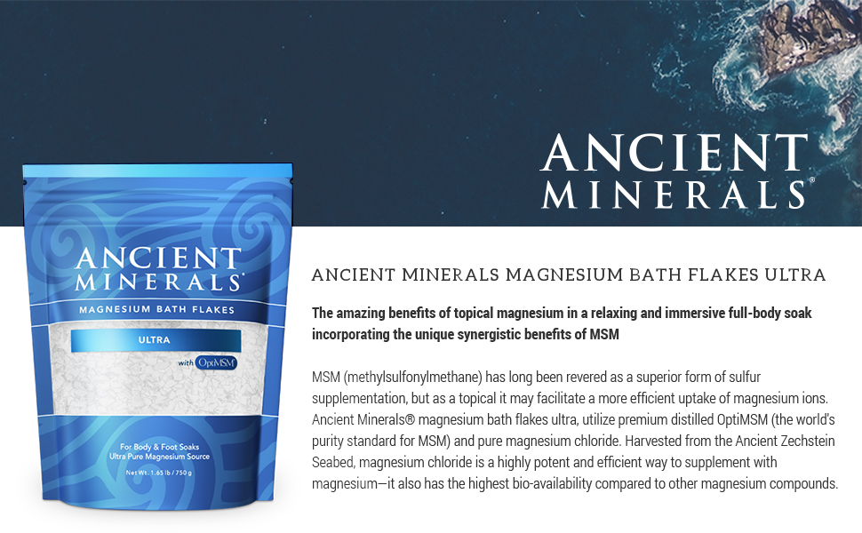 Amazon.com: Ancient Minerals Magnesium Bath Flakes ULTRA with ...