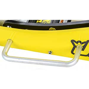 Dual side handles simplify maneuvering/positioning