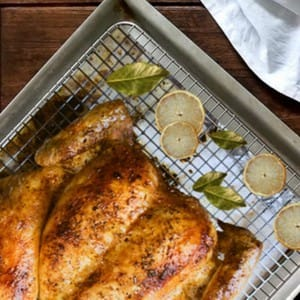 oven rack for chicken turkey ribs pork roast