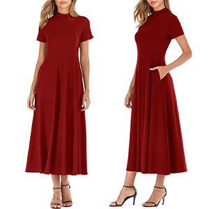winred dress
