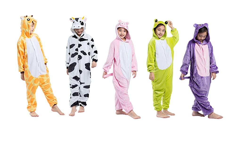 Here is Surprise Gift-->YUWELL Kids Animal Costume Animal Onesie Pajamas Children Christmas Gift!