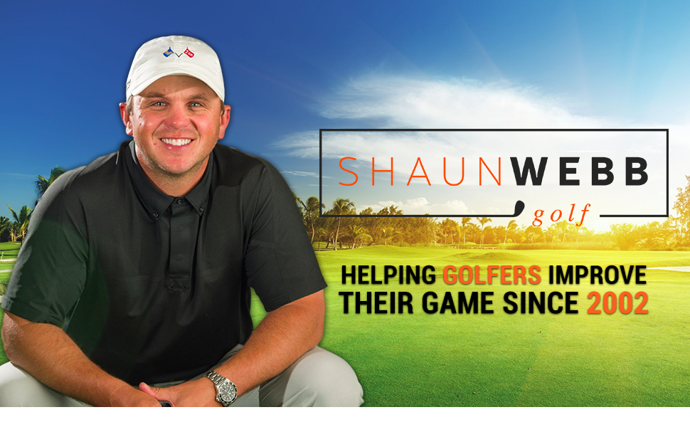 SHAUN WEBB Golf Alignment Sticks. Practice Rods, Training Accessories and Equipment, Aiming, Putting, Full Swing Trainer, Shoulder, Hip and Posture ...