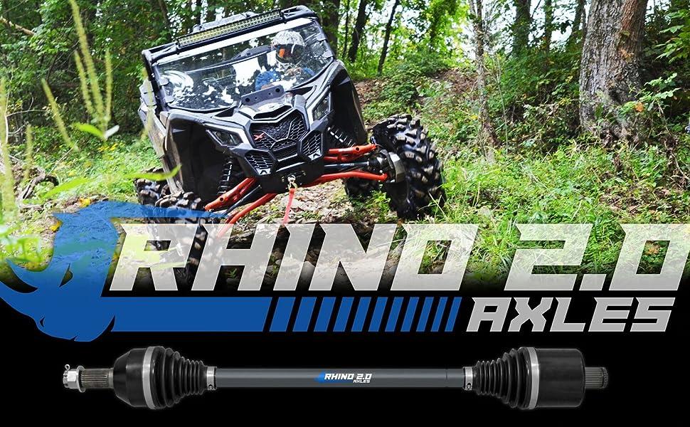 SuperATV Heavy Duty Rhino 2.0 Stock Length Axle for Polaris RZR S 900 2015+ 2X Stronger Than Stock! - REAR