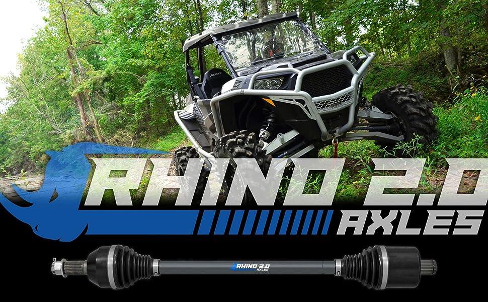 2016+ FRONT SuperATV Rhino Brand Heavy Duty Axle for Polaris RZR XP Turbo