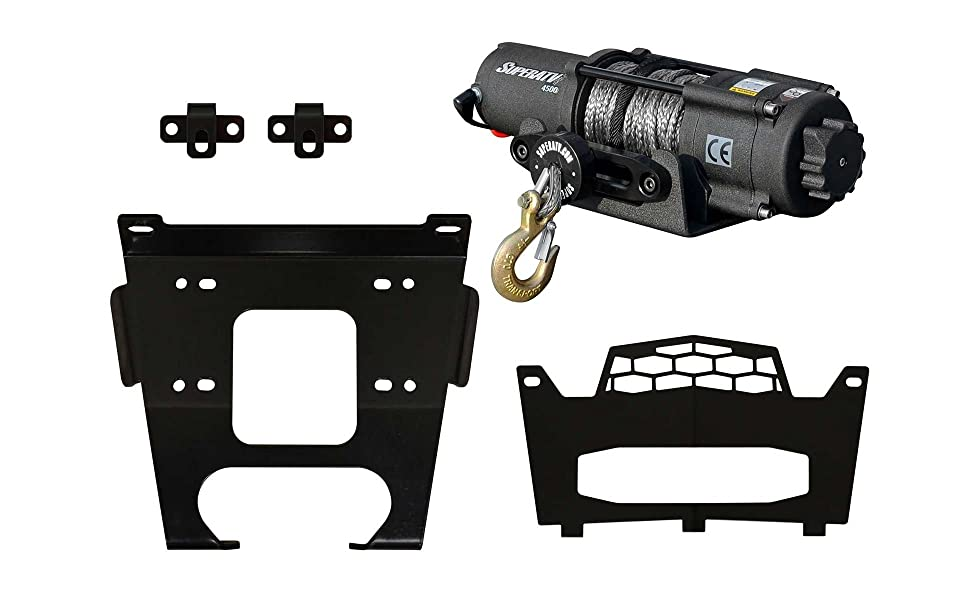 900 4 For Machines Manufactured After 9//1//2014 2015+ SuperATV Heavy Duty Winch Mounting Plate for Polaris RZR 900//900 S