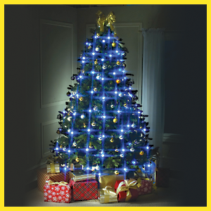 star shower tree dazzler has 8 strands each with 8 bright led bulbs for a total of 64 bulbs the built to last led bulbs are built to last a lifetime - Christmas Tree With Blue Lights