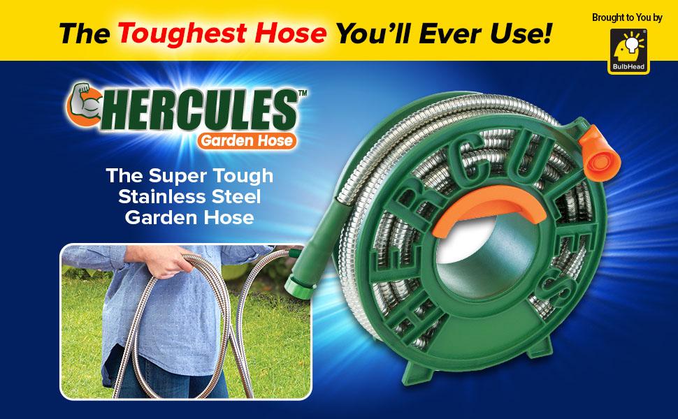 Hercules Hose Stainless Steel Garden Hose By Bulbhead The Heavy Duty Flexible