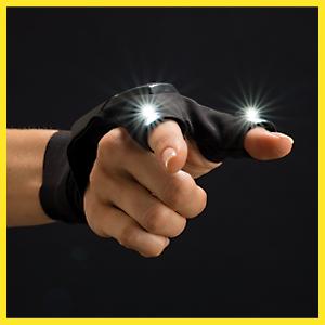 Atomic Beam Glove Flashlight By Bulbhead Led Light Gloves