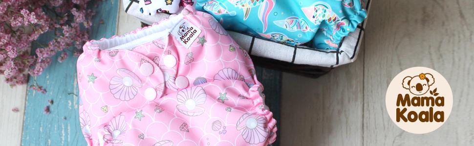 mama koala one size pocket cloth diapers boy girl reusable washable outdoor indoor unisex