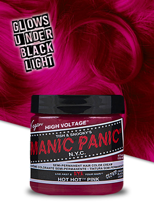 hot hit pink hair color
