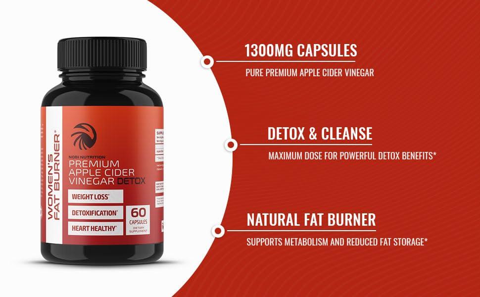 130909mg capsules pure premium apple cider powerful detox benefits natural fat burner storage