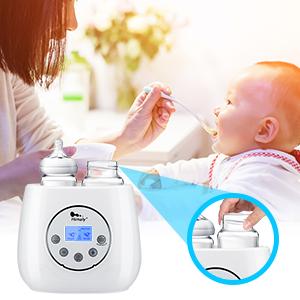 Amazon.com: Calentador de botellas de bebé, botella de vapor ...