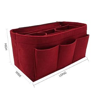 4c025cfca363 Amazon.com  Felt Insert Bag Organizer Bag In Bag For Handbag Purse ...