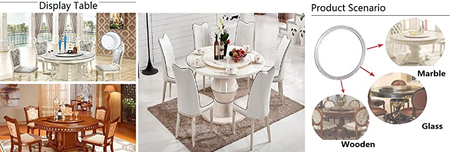 Luxury Dining Table Lazy Susan Turntable