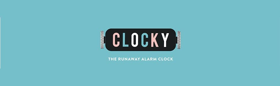 bedside rolling alarm-clock clocky run-away hide chase roll wheel beep heavy.sleeper wake-up time