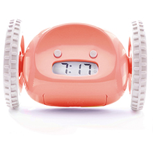 alarm-clock heavy-sleeper clocky loud roll run jump hide leap fly bed wheel pink digital wake-up