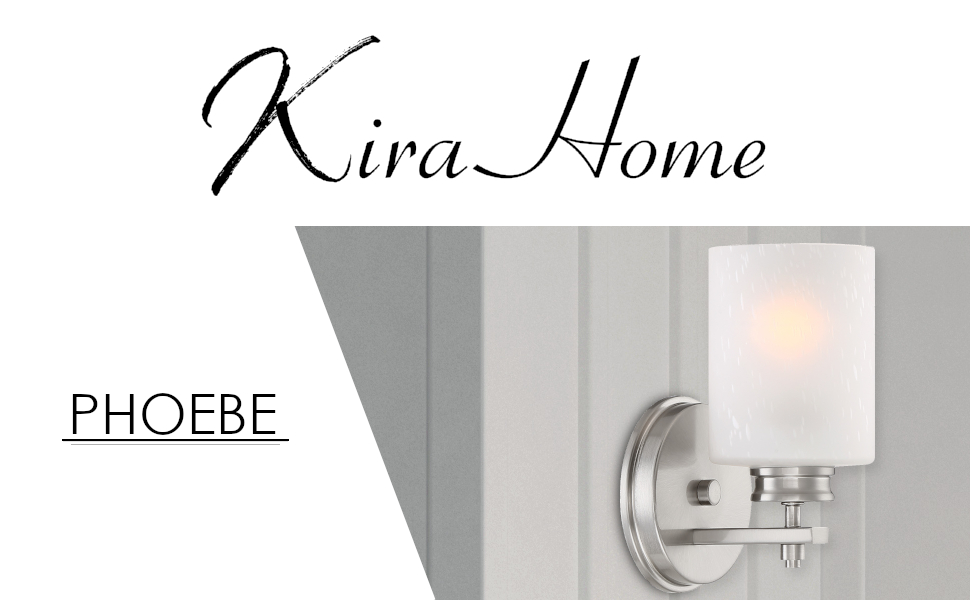 Kira Home Phoebe 8 Modern 1 Light Wall Sconce Vanity Light Brushed Nickel Finish Frosted Seeded Glass Shade Nayancorporation Com